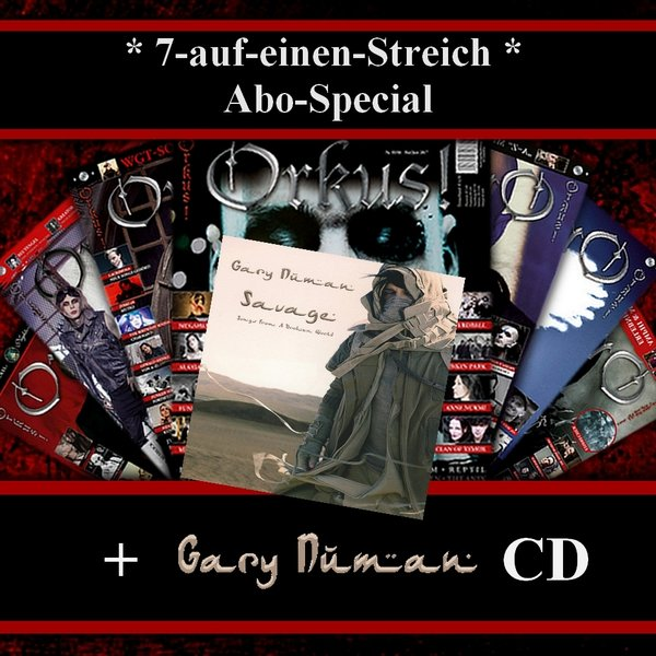 "7-Auf-Einen-Streich + Gary Numan ""Savage (Songs from a Broken World)"" CD"
