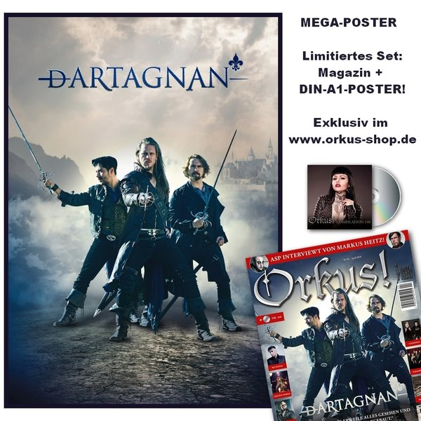 DARTAGNAN XXL-Poster + April-Ausgabe
