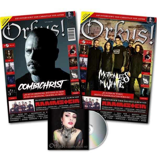 "Orkus! 06/2019 ""COMBICHRIST"" + ""MOTIONLESS IN WHITE"" + ""ASP"" neu!!"